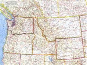 Road Map Northwest Usa My blog