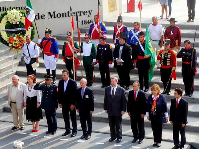 Envìo A Uds. Algunas Fotos De La Ceremonia Del 170 Aniversario De La  Batalla De Monterrey De 1846, La Que Se Llevò A Efecto El Pasado Domingo 18  Del Mes En